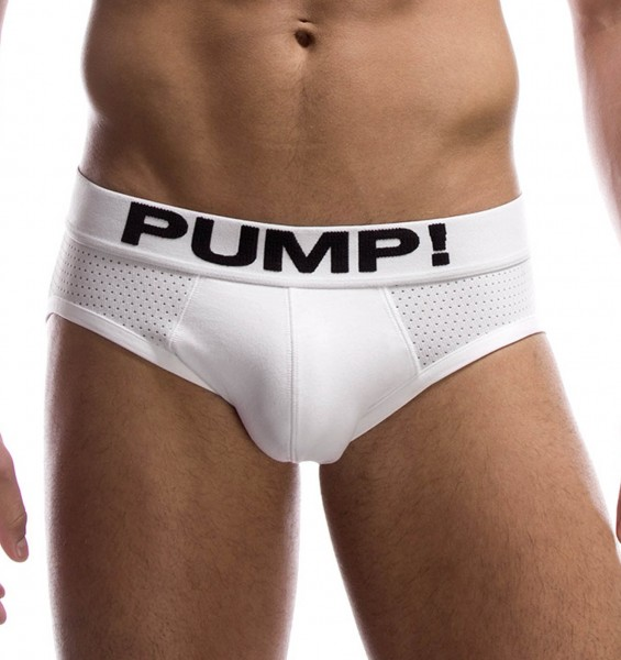 Pump! Herrenslip WHITE CLASSIC Brief 12008