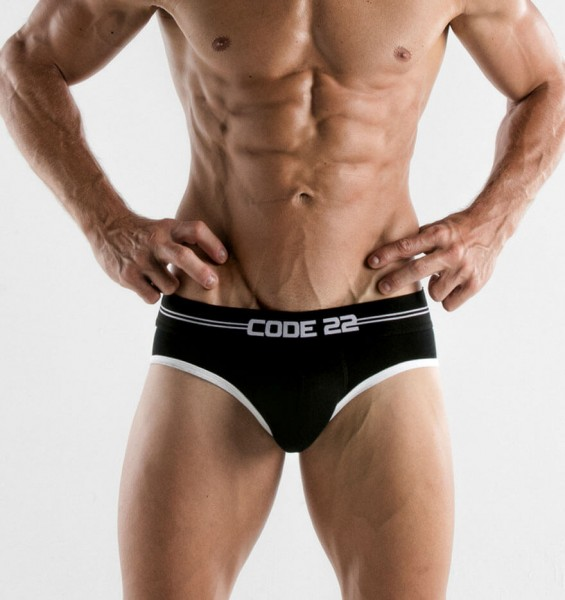 Code 22 Herren Push-Up Slip POWER BRIEF 1986 black