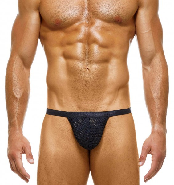 seductive men's t-string with mesh cup from Modus Vivendi in black
